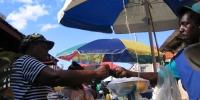 Martinique parasols et marchands